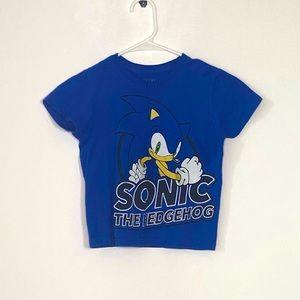 Sonic The Hedgehog Sega Boys Blue Short Sleeve Cartoon character T-shirt Size XS